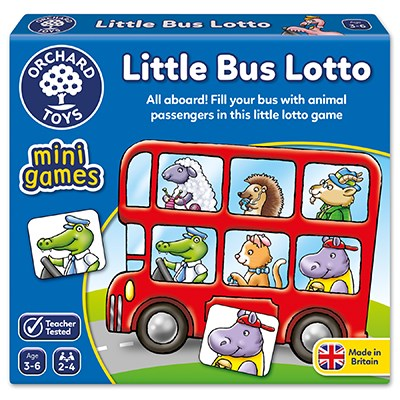 Little Bus Lotto Mini Game  3-6v